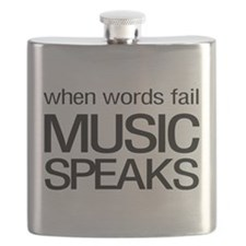 When Words Fail Music Speaks Flask