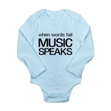 When Words Fail Music Speaks Body Suit