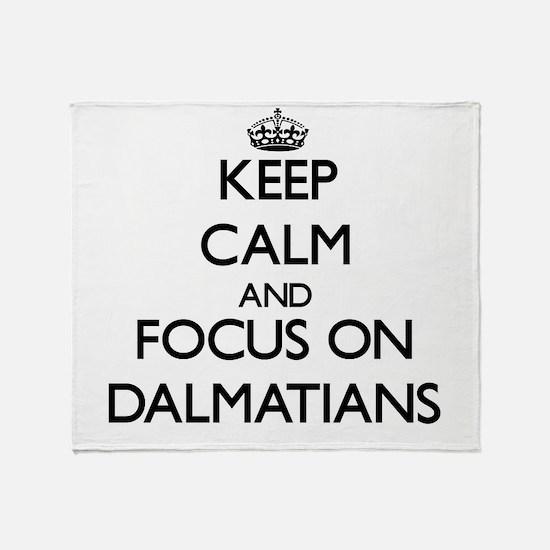 Funny 101 dalmatians Throw Blanket