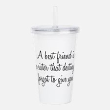 Unique Friendship and or best friends Acrylic Double-wall Tumbler
