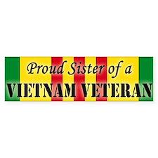 Proud Sister of a Vietnam Vet Bumper Bumper Sticker