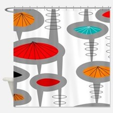 Cute Retro Shower Curtain
