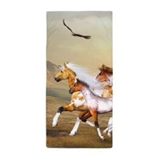 Wild Horses Herd Beach Towel