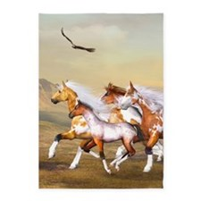Wild Horses Herd 5'x7'Area Rug