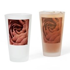 Grungy effect rose petals Drinking Glass