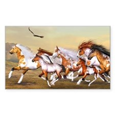 Wild Horses Herd Decal