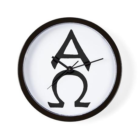 Alpha Omega Symbol Wall Clock
