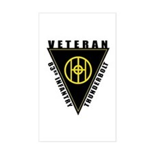 83rd Infantry Veteran Rectangle Decal