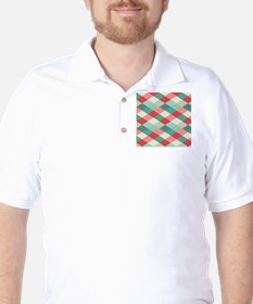 Red and Green Harlequin Golf Shirt