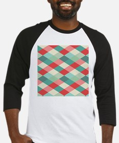 Red and Green Harlequin Baseball Jersey