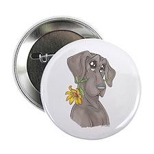 NBlu Flower pup Button
