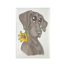 NBlu Flower pup Rectangle Magnet