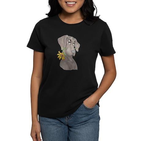 NBlu Flower pup Women's Dark T-Shirt