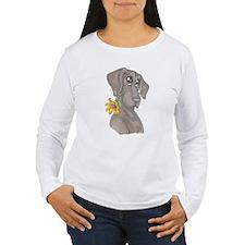 NBlu Flower pup T-Shirt