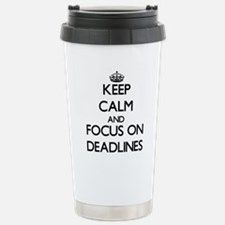 Funny Keep calm and date a blonde Travel Mug