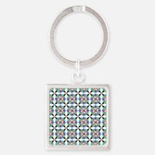 Moroccan stars Square Keychain