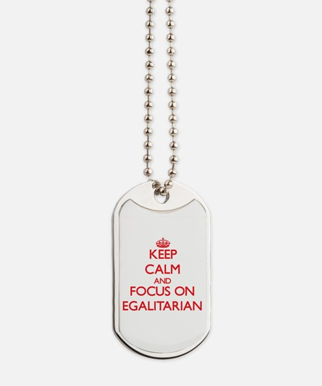 Unique Keep calm and carry on red Dog Tags