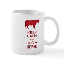 Keep Calm and Hug a Heifer Mugs