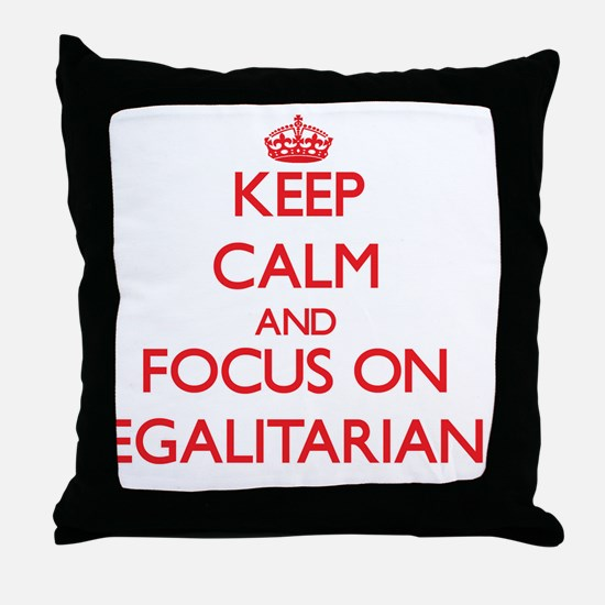 Funny Calm Throw Pillow