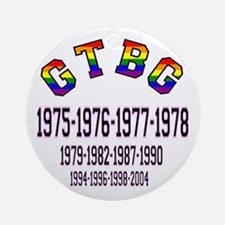 Glad To Be Gay Gtbg Ornament (round)