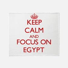Funny I love egypt Throw Blanket