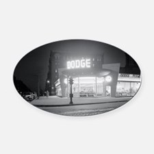 Auto Dealer At Night, 1948 Oval Car Magnet