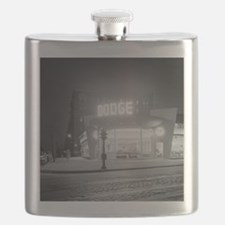 Auto Dealer At Night, 1948 Flask