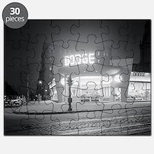 Auto Dealer At Night, 1948 Puzzle