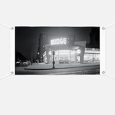 Auto Dealer At Night, 1948 Banner