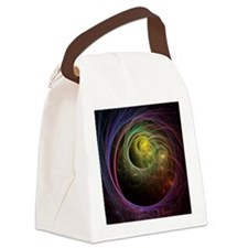 Space Fireworks Canvas Lunch Bag