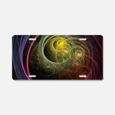 Space Fireworks Aluminum License Plate