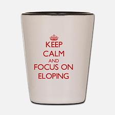 Cute Keep calm run on Shot Glass