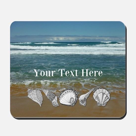 Customized Original Seashell Beach Art Mousepad