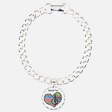Personalized Music Doodle Hea Charm Bracelet, One