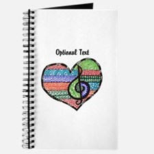 Personalized Music Doodle Hea Journal