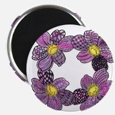 Purple Dahlia Flowers Magnet