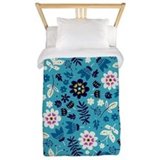 Flowers fresh Twin Duvet