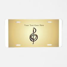 I Love Music Customizable Treble Clef Aluminum Lic
