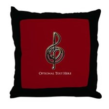 Cute Customized music Throw Pillow