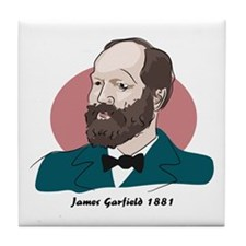 James Garfield Tile Coaster