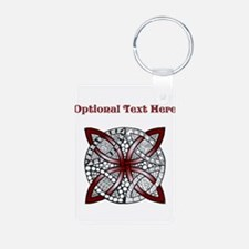 Personalizable Maroon Red Decorative Celtic Knot A