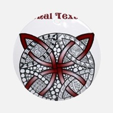 Personalizable Maroon Red Decorative Celtic Knot O