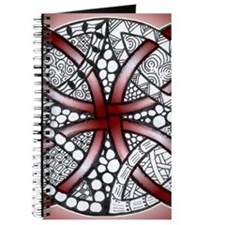 Celtic Knot Doodle Red Journal