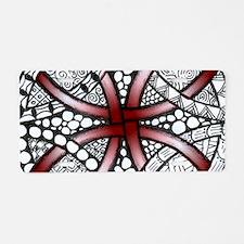 Red Celtic Knot Doodle Aluminum License Plate