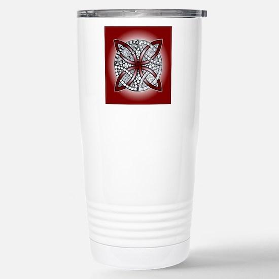 Red Celtic Knot Doodle Stainless Steel Travel Mug