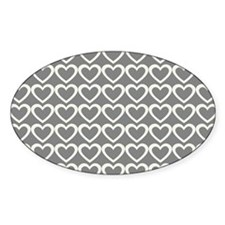 Back to School Sweet Cream Grey Hearts Pattern Sti