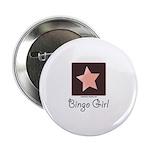 Bingo Girl Center Square Pink Star Button 100 pk