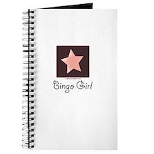 Bingo Girl Brown Center Square Pink Star Journal
