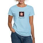 Bingo Girl Brown Center Square Star Pink T-Shirt