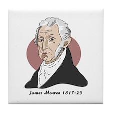 James Monroe Tile Coaster